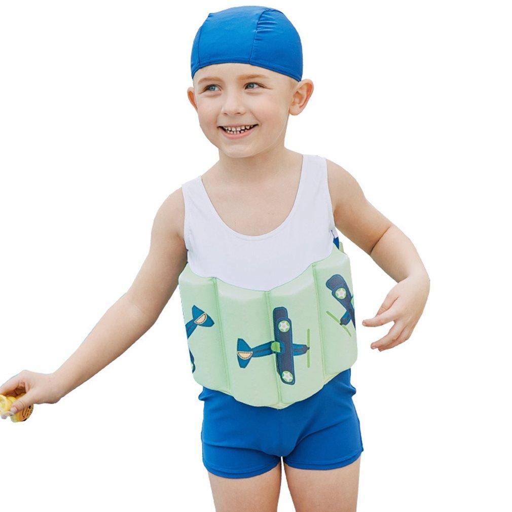Boy Buoyancy Swimsuit White Green Blue Ntl007 Children'S Swimwear Buoyancy Surfing Siamese Hot Spring Floating Beach Swimsuit