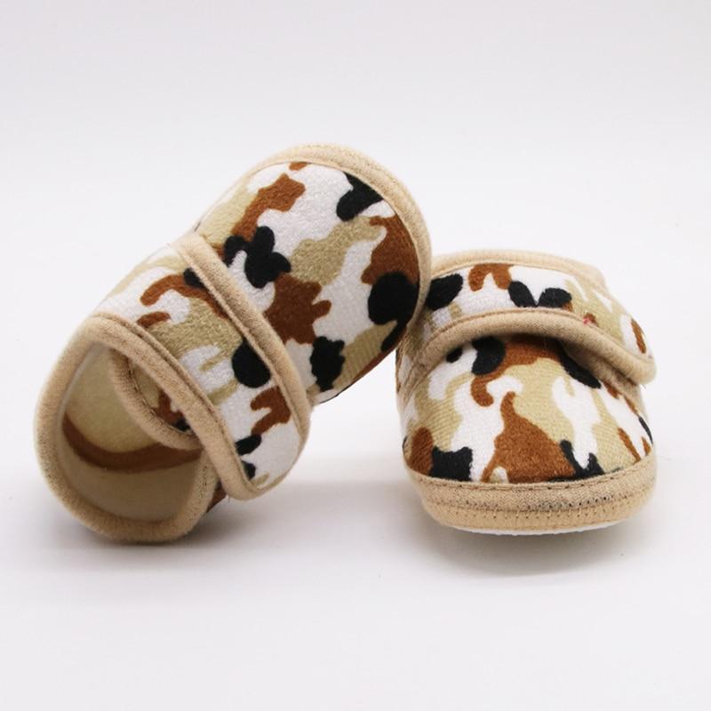 Newborn Baby Girl Boy Soft Sole Shoes Toddler Crib Camouflage Prewalker Boots