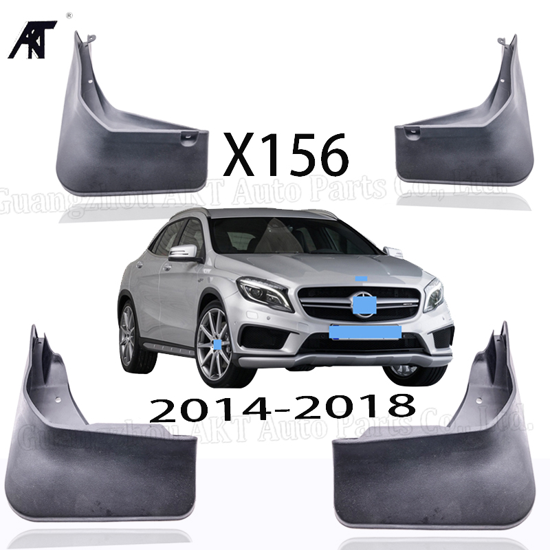 Mud Flaps FOR 2014-2018 <font><b>Mercedes</b></font> Benz <font><b>GLA</b></font> <font><b>45</b></font> <font><b>AMG</b></font> / <font><b>GLA</b></font> 260 X156 OE Splash Guards ( NOT FOR <font><b>GLA</b></font> 200 / 220 / 250 ) image