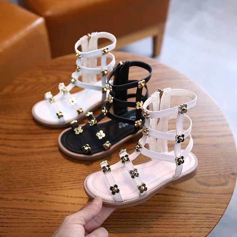 2020 Little girls gladiator sandals
