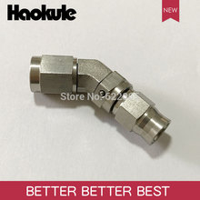 Haokule Stainless Steel 45Degree AN3/3AN 3/8 24UNF Thread  Hose End  AN3 TEFLON PTFE HOSE END FITTING  BRAKE SYSTEM FITTINGS