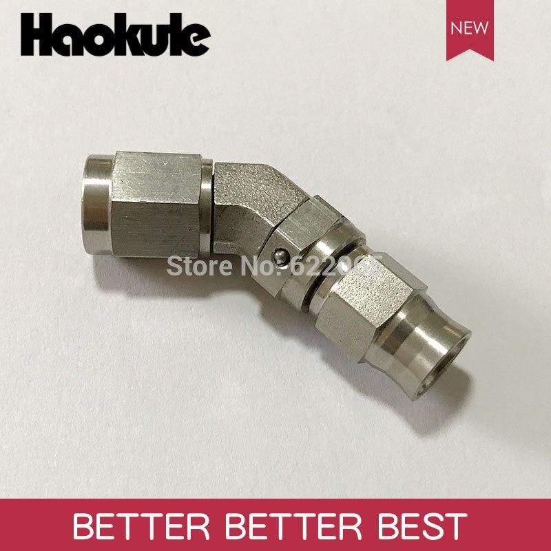 Haokule acier inoxydable 45 degrés AN3/3AN 3/8 24UNF embout de tuyau fileté AN3 téflon PTFE raccords de système de freinageFlexibles de frein et accessoires   -