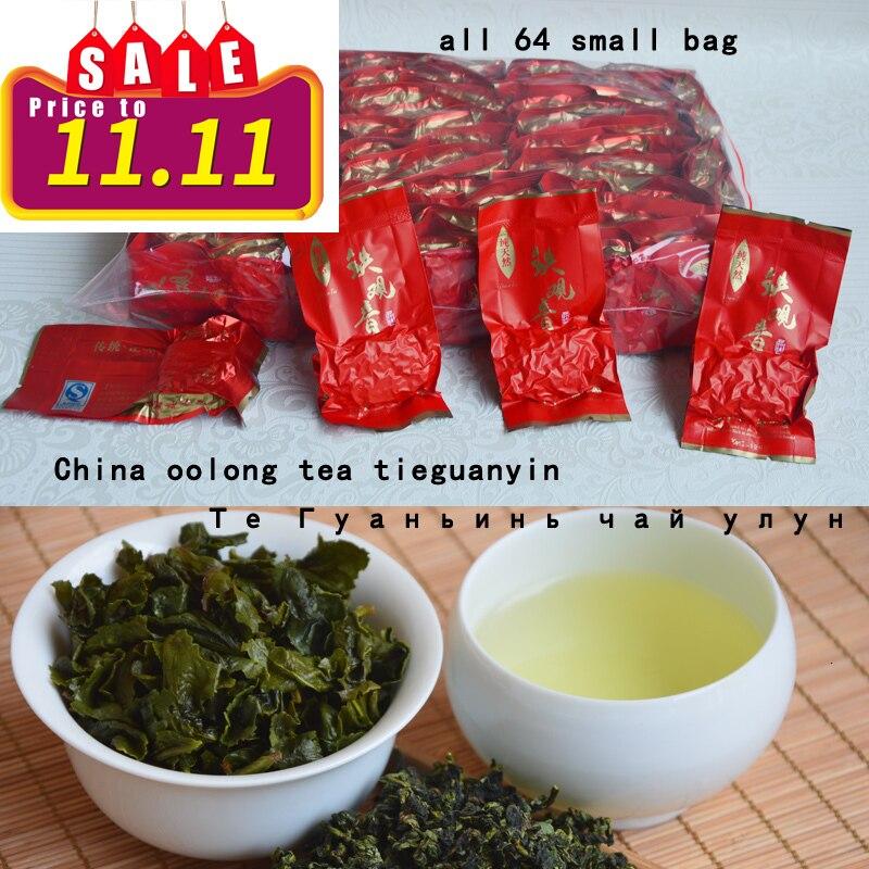 2016   Free Shipping 500g Top Grade Chinese Anxi Tieguanyin Tea Oolong China  Tie Guan Yin Tea Tikuanyin Health  64 SMALL Bags