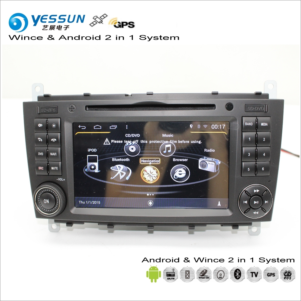 YESSUN For Mercedes <font><b>Benz</b></font> C Class <font><b>W203</b></font> 2004~2007 Android Car <font><b>Radio</b></font> CD DVD Player GPS <font><b>Navi</b></font> Navigation Maps TV Screen Multimedia image