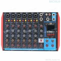MiCWL-tarjeta de Audio en vivo MG8-USB, consola de mezcla de sonido con Bluetooth, USB, PC, portátil, mezclador de DJ, Stage Studi Sing, Effector XLR 6,5, dos en uno
