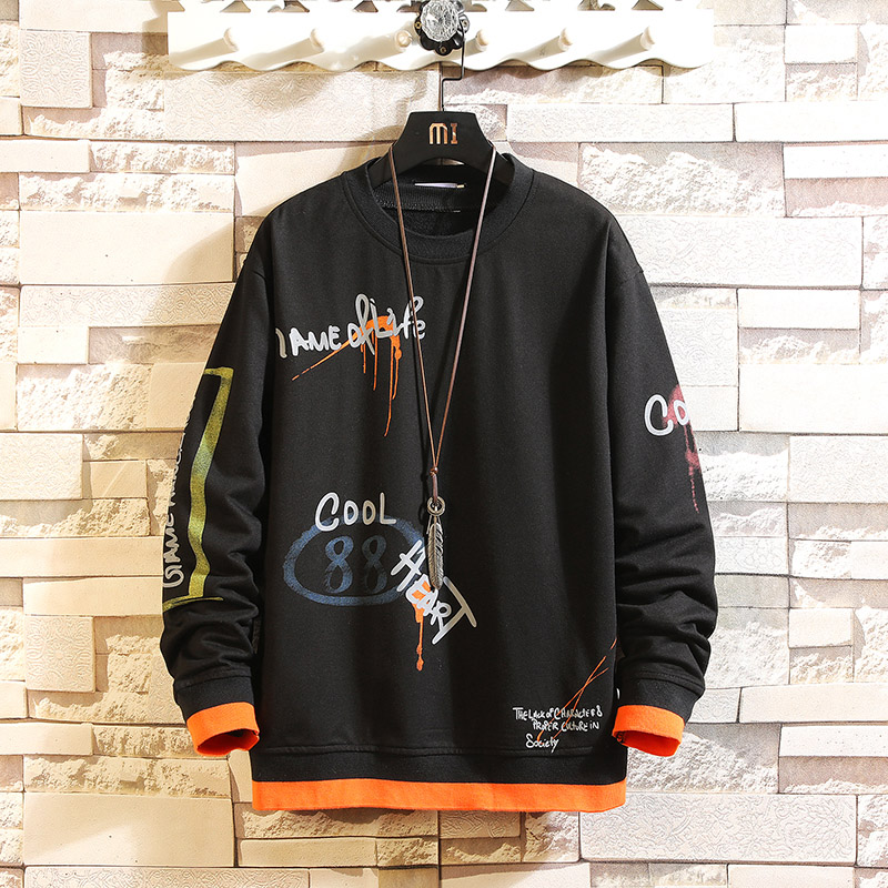 Japan Style Casual O-Neck 2020 New Arrived Black Hoodie Sweatshirt Men'S Thick Fleece Style Hip Hop High Streetwear Clothing