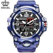 SMAEL männer Sport Uhren Mode Wasserdicht Militär LED Digital Quarz Elektronische Uhr Männer Uhr Relogio Masculino