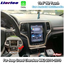 Car Multimedia Player For Jeep Grand Cherokee WK2 2014-2019 Android Carplay GPS Navigation Vedio Radio 10.4'' HD Super Screen
