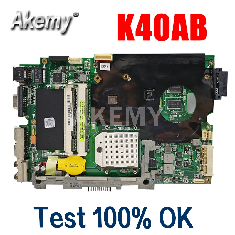 Amazoon  K40AB Laptop motherboard For Asus K40AB K40AD K40AF K50AB K50AD K50AF K40IJ K5IJ K40 K50 Test original mainboard
