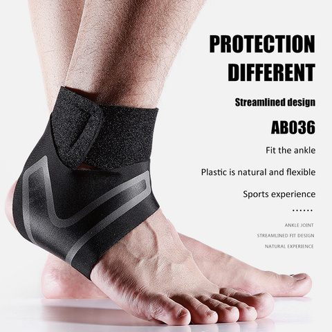 1PC Adjustable Ankle Support Pad Ankle Sleeve Pressure Anti-Spinning Elastic Breathable Support Fitness Sports Safety Prevention Lahore