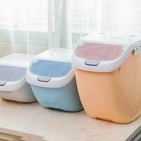 Caixa de armazenamento de arroz à prova de umidade recipiente de farinha selado grande capacidade de grão cozinha arroz caixa de armazenamento flip cover