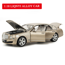 Simulated 1:18 Large Cast Alloy Car Luxury Car Model Toy Car Openable Door Model Children's Decoration Gift Boy Toys scale 1 18 motorcycle model adult toy simulated alloy locomotive abs decoration with good quality gift