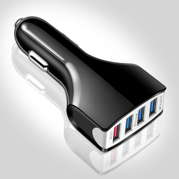 Suhach Quick Charger 3.0 Car Charger Adapter 7A QC3.0 Turbo Fast Charging 4 USB Car Mobile Phone Charger for iPhone Xiaomi 1