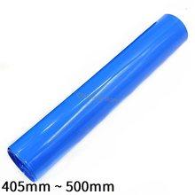 PVC Schrumpf Schlauch 405mm ~ 500mm Blau Protector Schrumpf Kabel Hülse Mantel Pack Abdeckung für 18650 Lithium-batterie Film Wrap