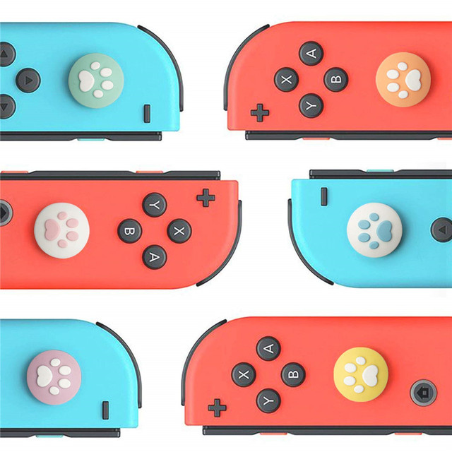 IVYUEEN for Nintendo Switch Lite Animal Crossing Analog Thumb Grip for Nintend Swith Joy Con JoyCon Controller Joystick Cap Game 2