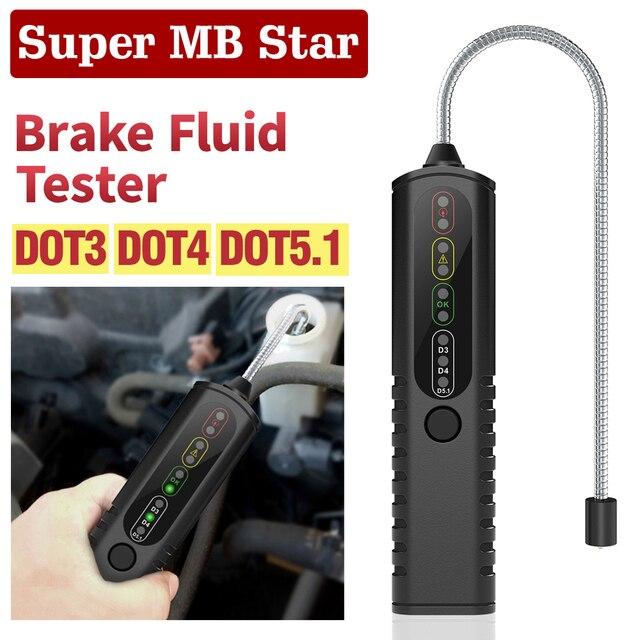 Teste para fluido de freio automotivo, testador para fluido de freio automotivo pontil5.1/pontil3/pontil4 bf100 bf200, detector de qualidade do óleo caneta de teste