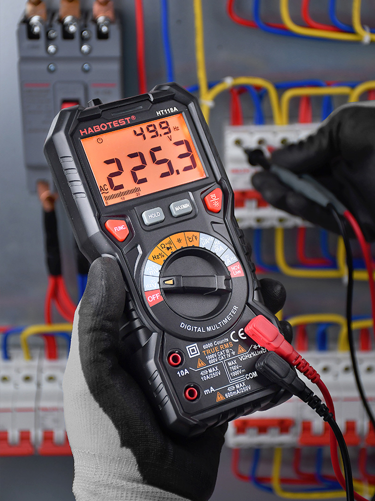 Digital Multimeter NCV Professional HT118 DC 6000 1000V High-Precise Ohm AC Hz Counts