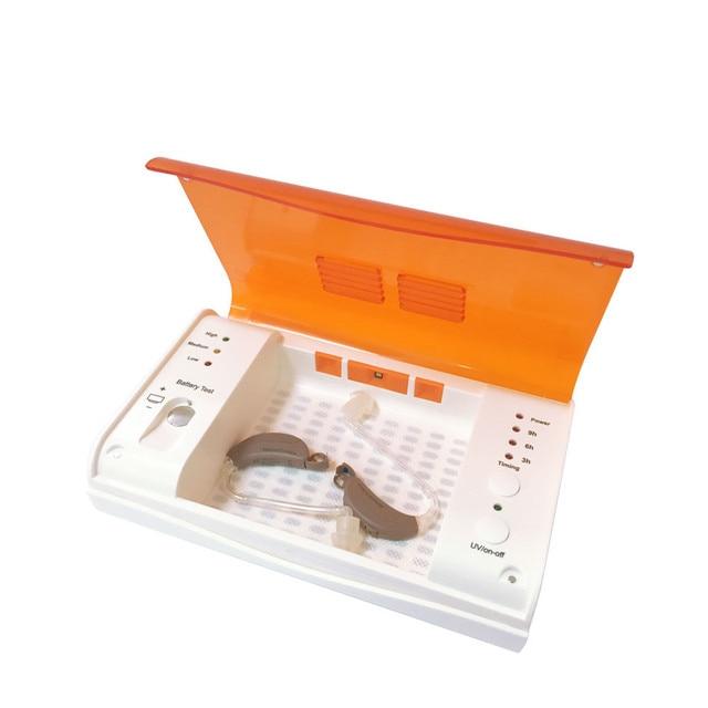 Secador de audífonos, deshumidificador, LED UV, caja seca desinfectante, secador de auriculares