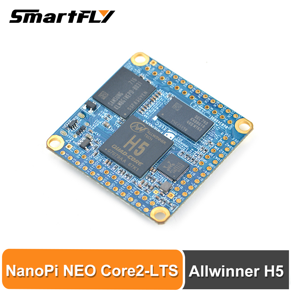 Smartfly Friendlyarm NanoPi NEO Core2 512MB/1GB DDR3 RAM Allwinner H5, Quad-core 64-bit Cortex A53 8G EMMC U-boot,Ubuntu Core