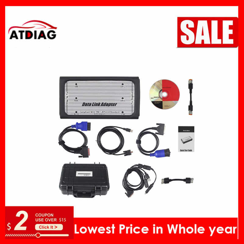 Quality INLINE 6 Data Link Diagnostic Tool Scanner Full 8 Cable Truck Interface