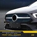 Авто передний гриль наклейка Накладка аксессуары для Mersedes-benz A Class W177 V177 2019