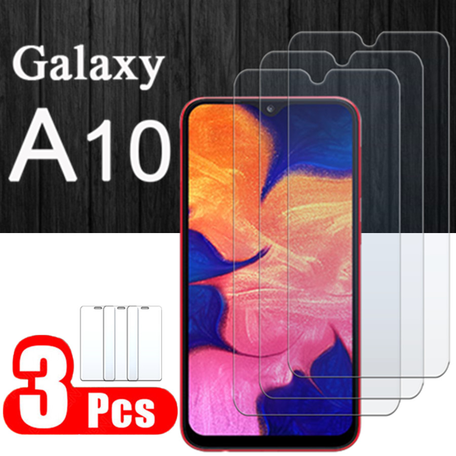 Protective <font><b>Glass</b></font> On For <font><b>Samsung</b></font> Galaxy <font><b>a10</b></font> Tempered Glas Film 10a Tremp Sansung a 10 <font><b>Case</b></font> Screen Protector Hd Clear 1 To 3 Pcs image