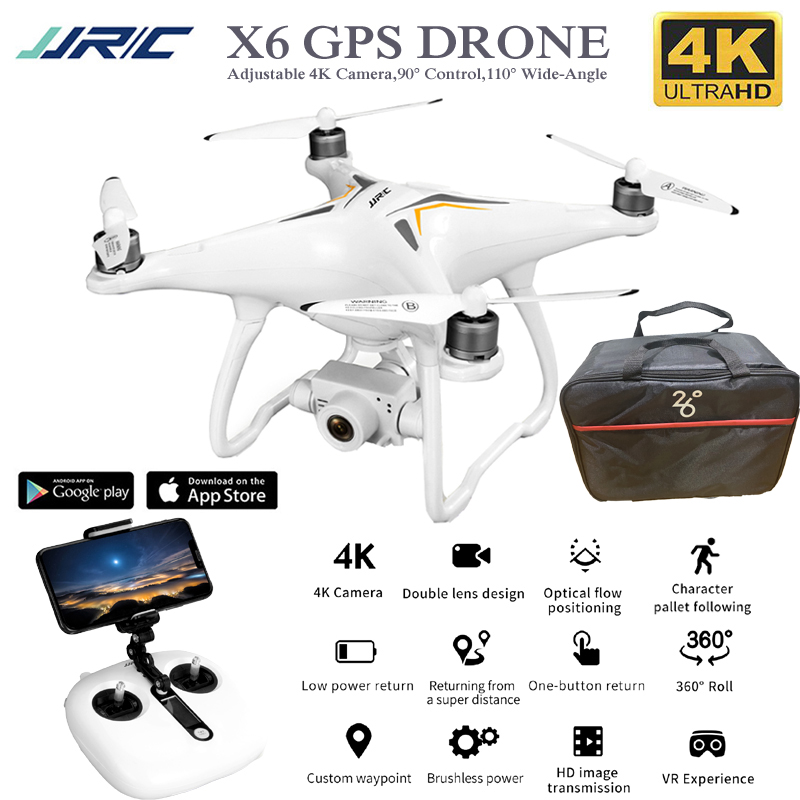 X6 Professional <font><b>Drone</b></font> Gps 4K Camera Adjustable <font><b>Brushless</b></font> Rc Quadcopter 5G Follow Me WiFi <font><b>Fpv</b></font> Selfie Quadrocopter Camera <font><b>Drone</b></font> image