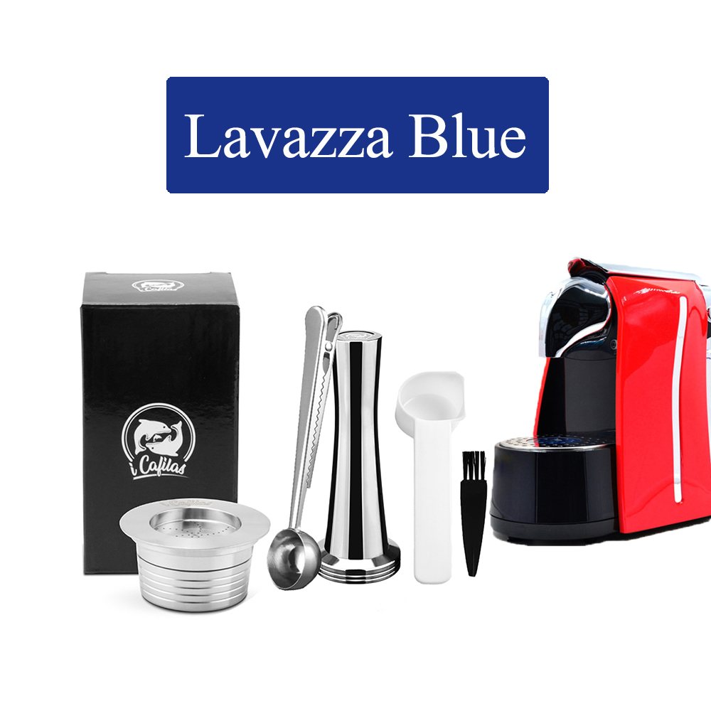 ICafilas For Lavazza Blue Coffee Filters  Reusable Lavazza LB951 & CB-100 Machine Stainless Steel  Refillable Coffee Capsule Pod