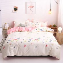 4Pcs/Set Bedding Set Bed Textile Products 27 Style Bed Set Soft Print Home Cotton Bed Sheet Sheet Pillowcase & Duvet Cover
