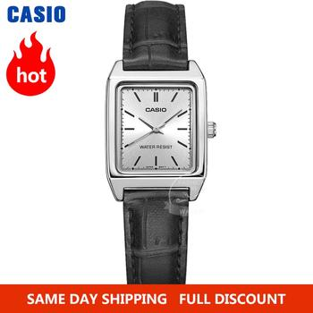 Casio Watch women Luxury Brand Analog Leather Square dial Women's Wrist Watch Female Quartz Clock Relogio Mulher LTP-V007