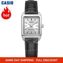 Zegarek Casio Watch kobiety luksusowej marki analogowe skóry kwadratowych wybierania kobiet zegarek na rękę dla kobiet kwarcowe zegar Relogio Mulher LTP-V007 tanie tanio QUARTZ NONE Klamra JP (pochodzenie) STAINLESS STEEL 3Bar Moda casual 14mm Rectangle Odporne na wodę Hardlex 20cm Metal
