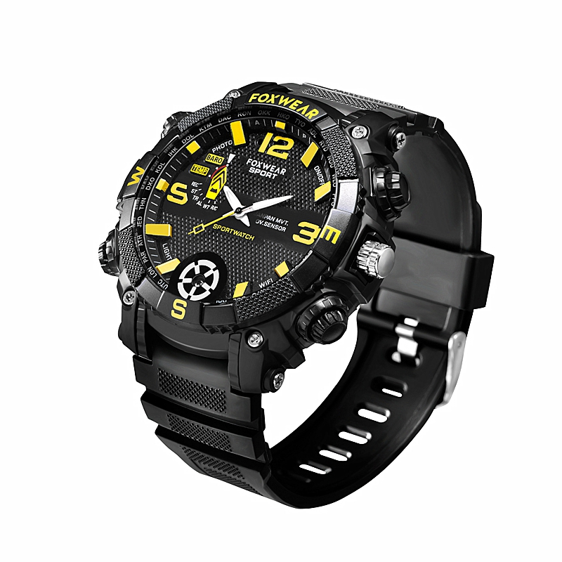 FOX9 Sports Camera Watch Remote Wifi Large Capacity HD Camera Wristband Glare Lighti IP67 Waterproof Watch Smart Watch