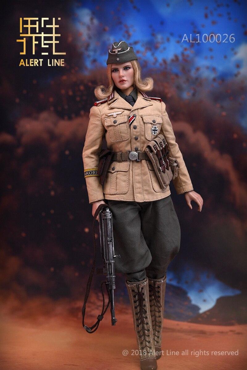 Alert Line 1//6 Scale AL100026 Afrika Female Officer Figure Model  Head Sculpt