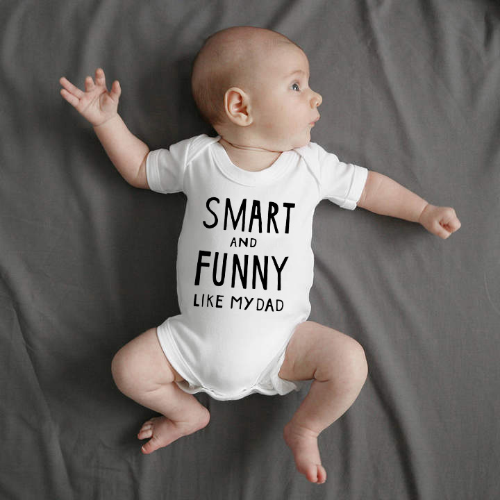 Dad A Sons First Hero Funny Baby Infants Babygrow Romper Jumpsuit