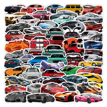 100PCS Anime Retrofit Racing Car Graffiti Waterproof Cool Stickers Motorcycle Travel Luggage Phone Guitar Fridge Laptop Gifts image