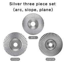 3pcs set Wood Grinding Polishing Wheel Rotary Disc Sanding Wood Carving Tool Abrasive Disc Tools For Angle Grinder 4inch Bore