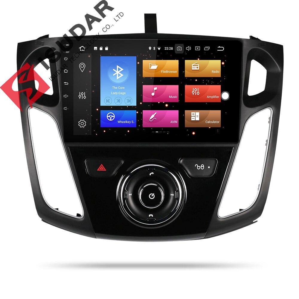 Isudar 9 1 Din Rádio Auto Android Para Ford/Focus 3 2012-2014 Stereo Car Multimedia Player GPS octa Núcleo RAM GB ROM 64 4GB DSP DVR