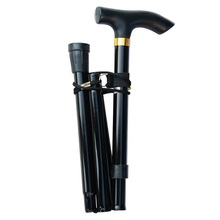 Walking-Stick Crutches Telescopic Trekking Hiking-Poles Folding Elderly Collapsible