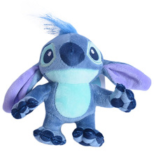 Lilo Y Stitch Disney Plush Toys Keychains For Backpacks 14cm Key Pendant Women In The Car Anime Things Dolls Girls Wholesale