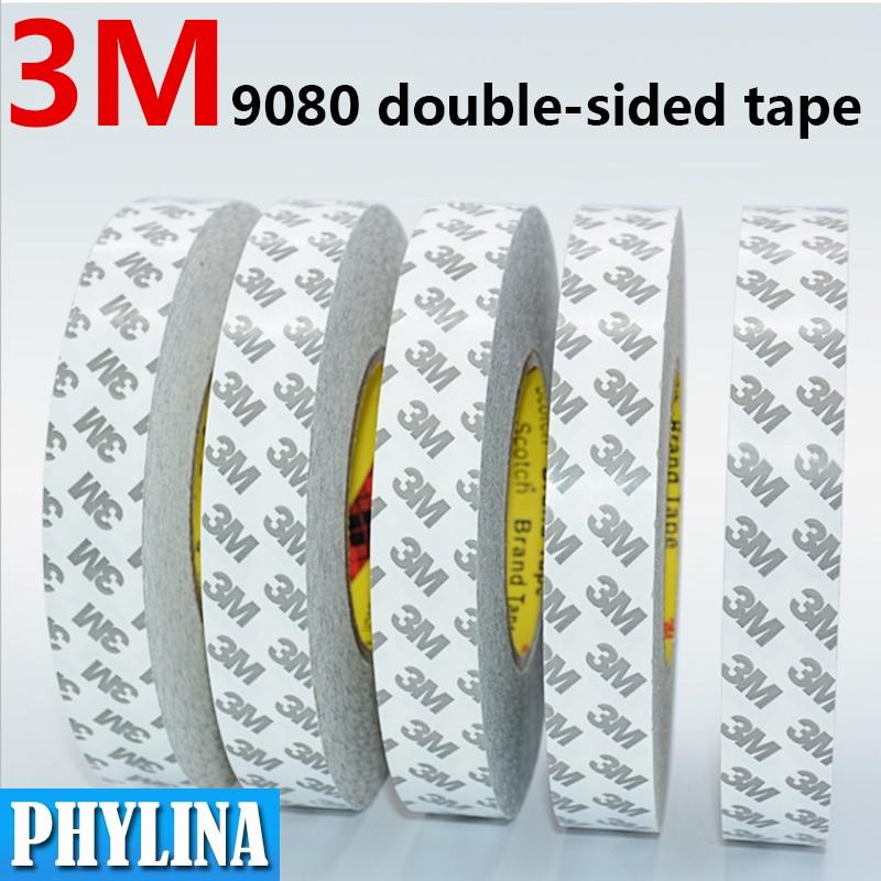 50 metri/lotto biadesivo nastro adesivo 3M 9080 LED striscia di luce nastro ultra-sottile forte appiccicoso lunghezza: 10M 50M larghezza: 2/3/5/8mm