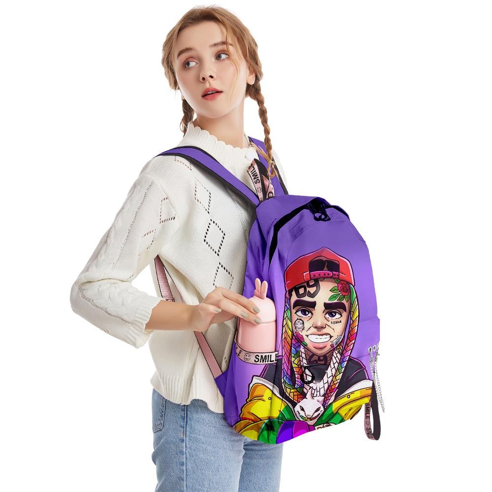 2020 nova casual 6ix9ine mochila mochila dos