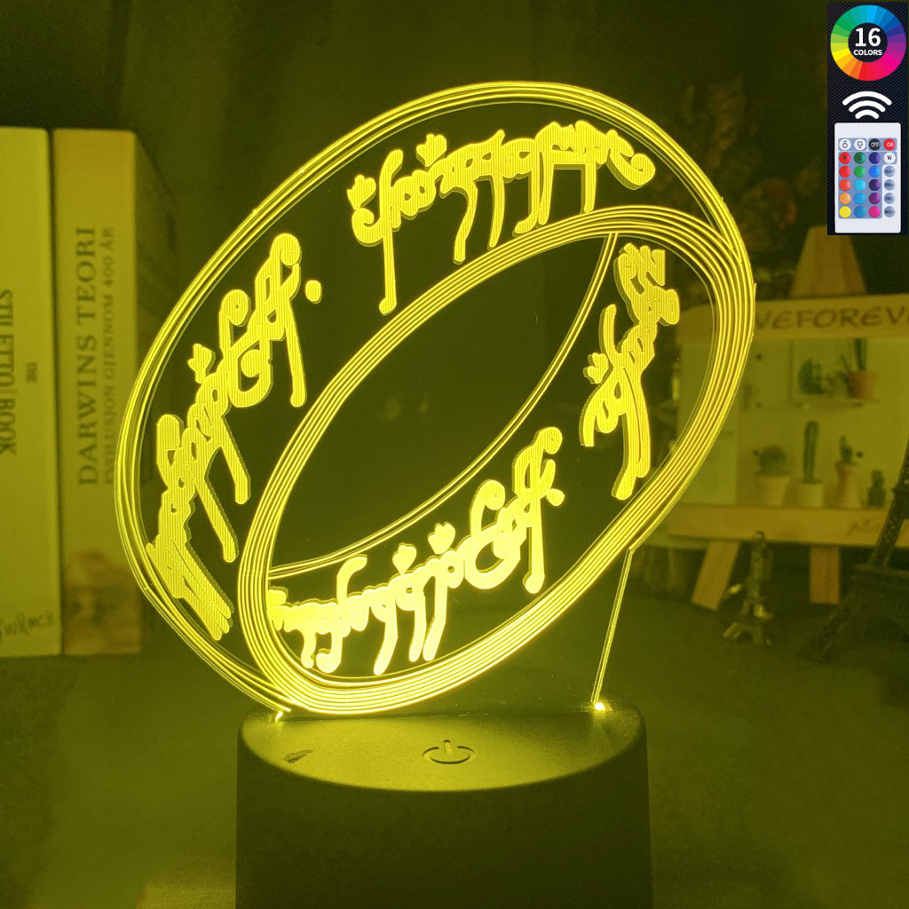 Film Series The Lord Of The Rings 3d Illusion Led Night Light Touch Sensor Colorful Nightlight For Home Decoration Night Lamp