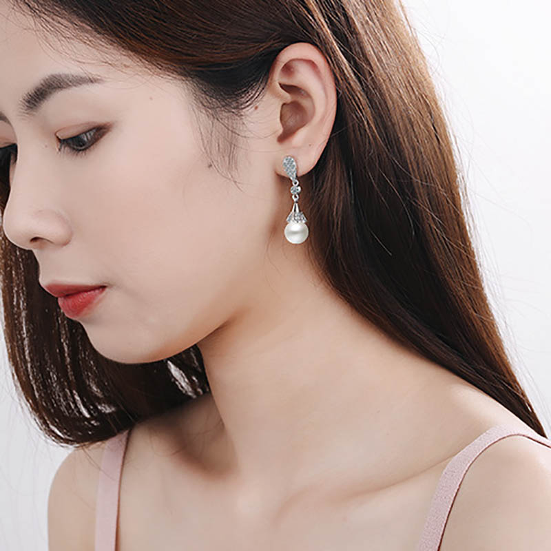 Hb6f3db68f87342f6b5abc2e02869a4f3E - Classic 925 Silver Drop Earrings