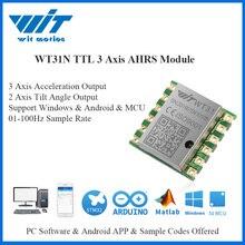 Witmotion wt31n ahrs imu sensor 2 axis ângulo de inclinação digital (passo do rolo) + 3 eixos acelerômetro inclinômetro para pc/android/mcu
