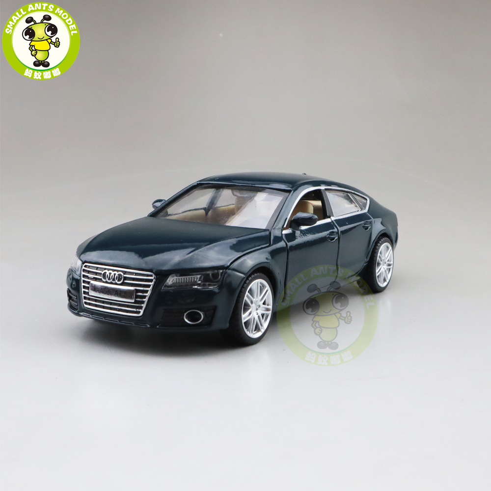 1/32 A7 Diecast Car Model Toys For Kids Children Sound Lighting Pull Back Gifts