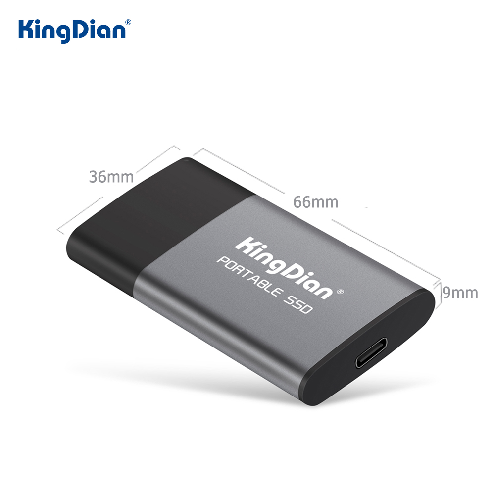KingDian External SSD 1tb 500gb Protale SSD External Hard Drive Solid State SSD Disk HD External USB 3.0 Type C P10 For Laptop
