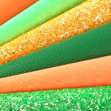 Fabric-Set Synthetic-Leather Glitter for Making Handmade Earrings 1yc8330 Lychee Solid-Color