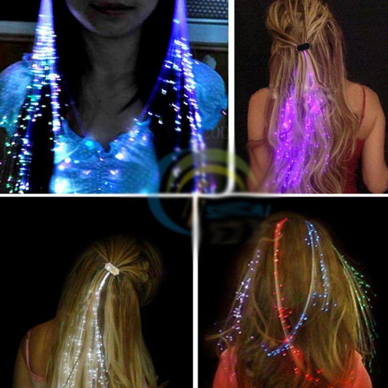 PURPLE Flashing Braid Light Attaches By Clip NEW