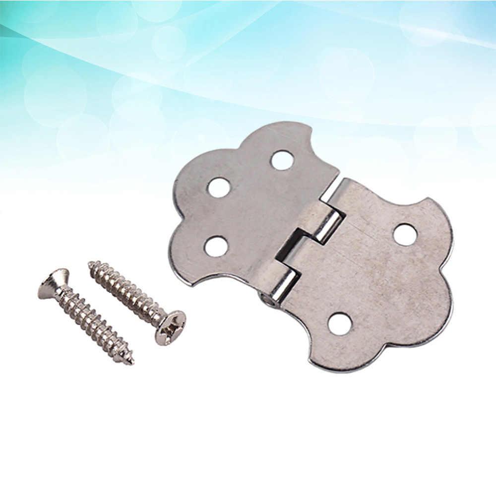 1 takım puro kutusu gitar 3 dize Metal menteşe Tailpiece için vidalar ile puro kutusu gitar (gümüş)