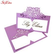 Cartes Place en forme de cœur 10 pièces et découpées au Laser pour mariage, décoration de Table et mariage 8zsh871